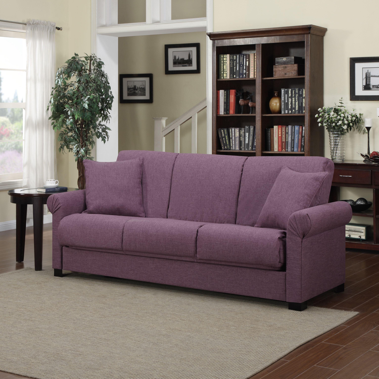 PORTFOLIO Rio Convert-a-Couch Amethyst Purple Linen Futon Sofa Sleeper -  Walmart