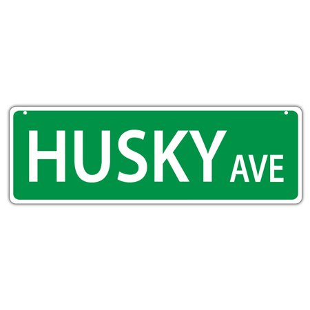 Plastic Street Signs: HUSKY AVENUE | Dogs, Gifts, Decorations