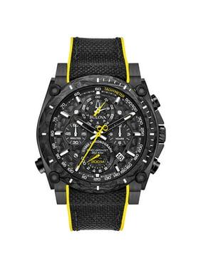 Bulova Men's Precisionist Champlain Black Ion-Plated Stainless Steel Chronograph Watch 98B312
