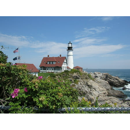 LAMINATED POSTER Lighthouse Ocean Sea Atlantic Maine Coast Poster Print 11 x 17