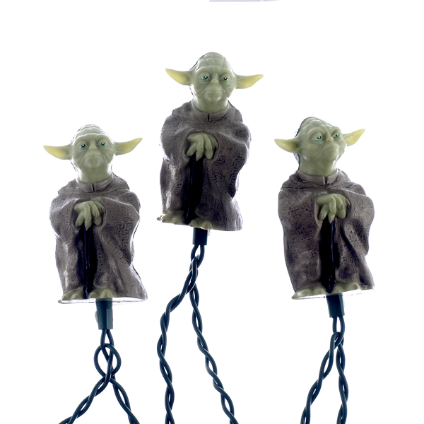 Kurt Adler UL 10-Light Star Wars Plastic Yoda Light Set
