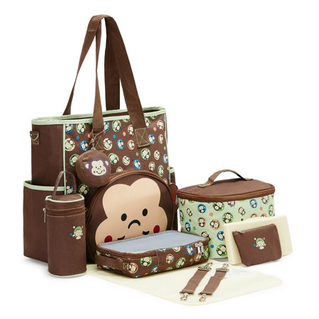 Ultimate Deluxe Diaper Bag - SOHO Franky the Monkey 10 pcs Deluxe Diaper Bag *Limited time offer* (Forest Green)