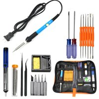 Iuhan 60W Adjustable Electric Temperature Welding Soldering Iron Tool 8 In Kit 110V Home Use Spare Improvement Kit