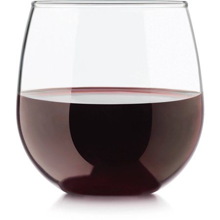 Libbey 4pc Stemless Balloon Wine Glasses ()