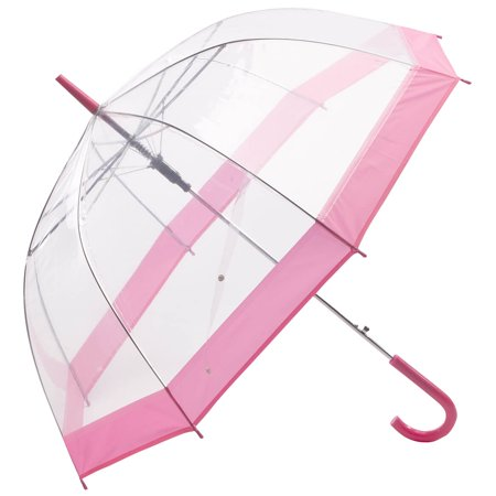 Miles Kimball Clear Umbrella with Pink Trim](Pink Drink Umbrellas)