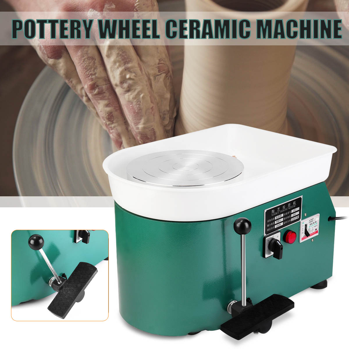 Ceramic Wheel Pottery Wheel Pottery Forming Machine 250W//350W Optional Electric Pottery Wheel DIY Clay Tool with Tray for Ceramic Work Ceramics Clay Art Craft 250W