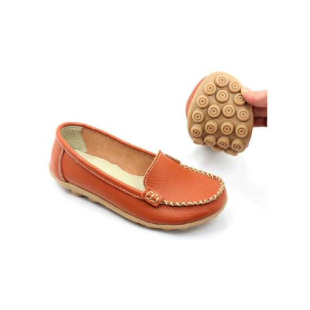 Meigar Women Casual Flat Shoes Moccasin Soft Loafers Genuine