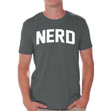 Awkward Styles Nerd Shirt for Men Nerd White Prints Cute Birthday Gifts for Nerds Nerd Themed Party Gifts for Him Nerd Geek Shirt Nerd Lovers T Shirt Nerd Men Clothing (Nerd Style Men)