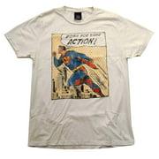 Superman DC Comics Down For Action Comic Vintage Style Junk Food Adult T-Shirt