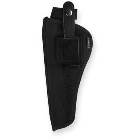 12 Inch Barrel Front - Bulldog Cases Belt and Clip Ambi Holster (Fits Most Revolvers with 5 - 6 1/2-Inch Barrels, S & W K,L,N Frame)