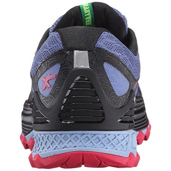 Saucony Women's Xodus ISO Trail Running Shoe, DenimBlackPink, 9 B US