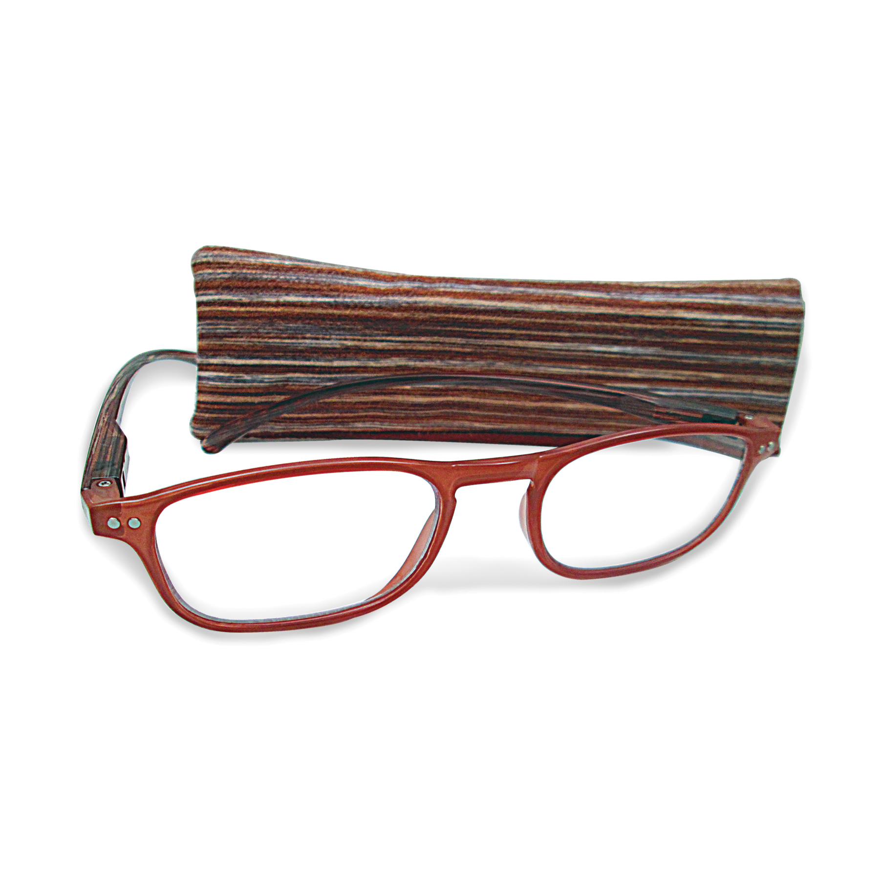 Brown +1.25 Magnification Reading Glasses