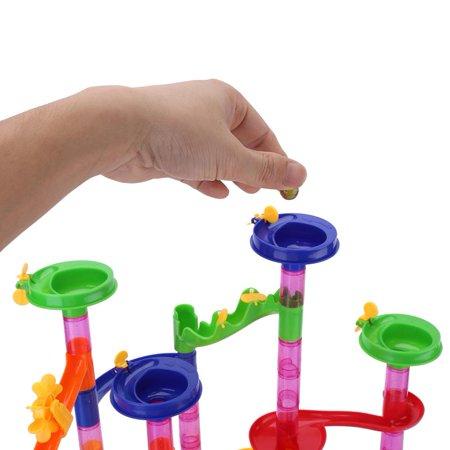 Cergrey DIY Construction Marble Race Run Maze Balls Track Building Blocks Baby Kid Gift Educational Toy, Marble Building Blocks Toy, Track Building Blocks Toy - image 3 of 8