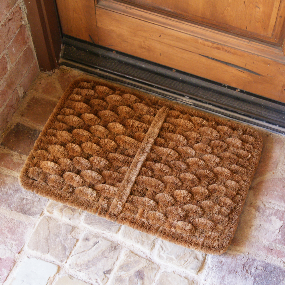 16 x 24 Outdoor Scraper Door Mat 10-100-511 Rubber-Cal Shiraz Coco Coir Mat