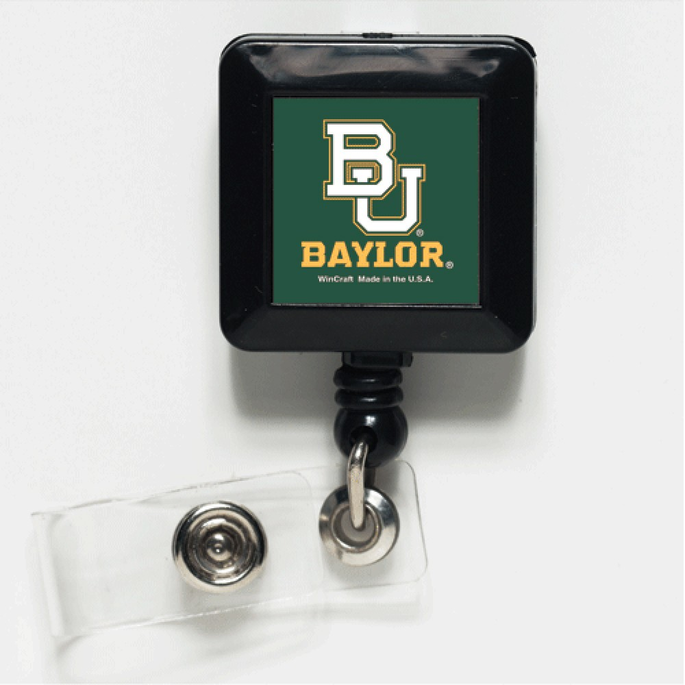 Baylor Bears Official NCAA 1 inch x 1 inch  Retractable Badge Holder Key Chain Keychain by WinCraft