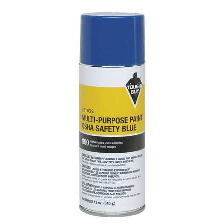 Tough Guy 4WGC5 OSHA Safety Blue Spray Paint (Safety Spray)
