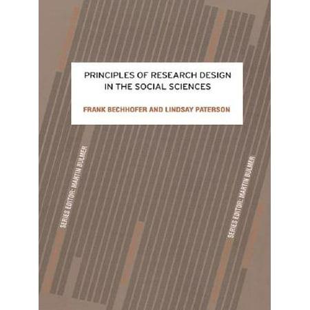 Principles Of Research Design In The Social Sciences Ebook Walmart Com