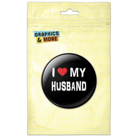 I Love My Husband Stylish Pinback Button Pin Badge