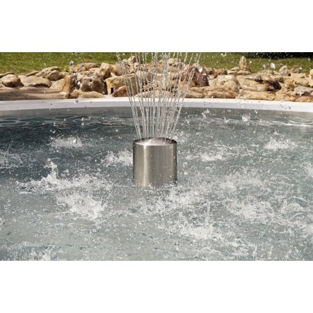 Framed Art for Your Wall Fontaine Water Swimming Pool Fountain Water  Feature 10x13 Frame
