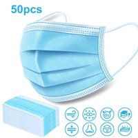50Pcs Disposable 3-Layer Breathable Disposable Earloop Face Mask