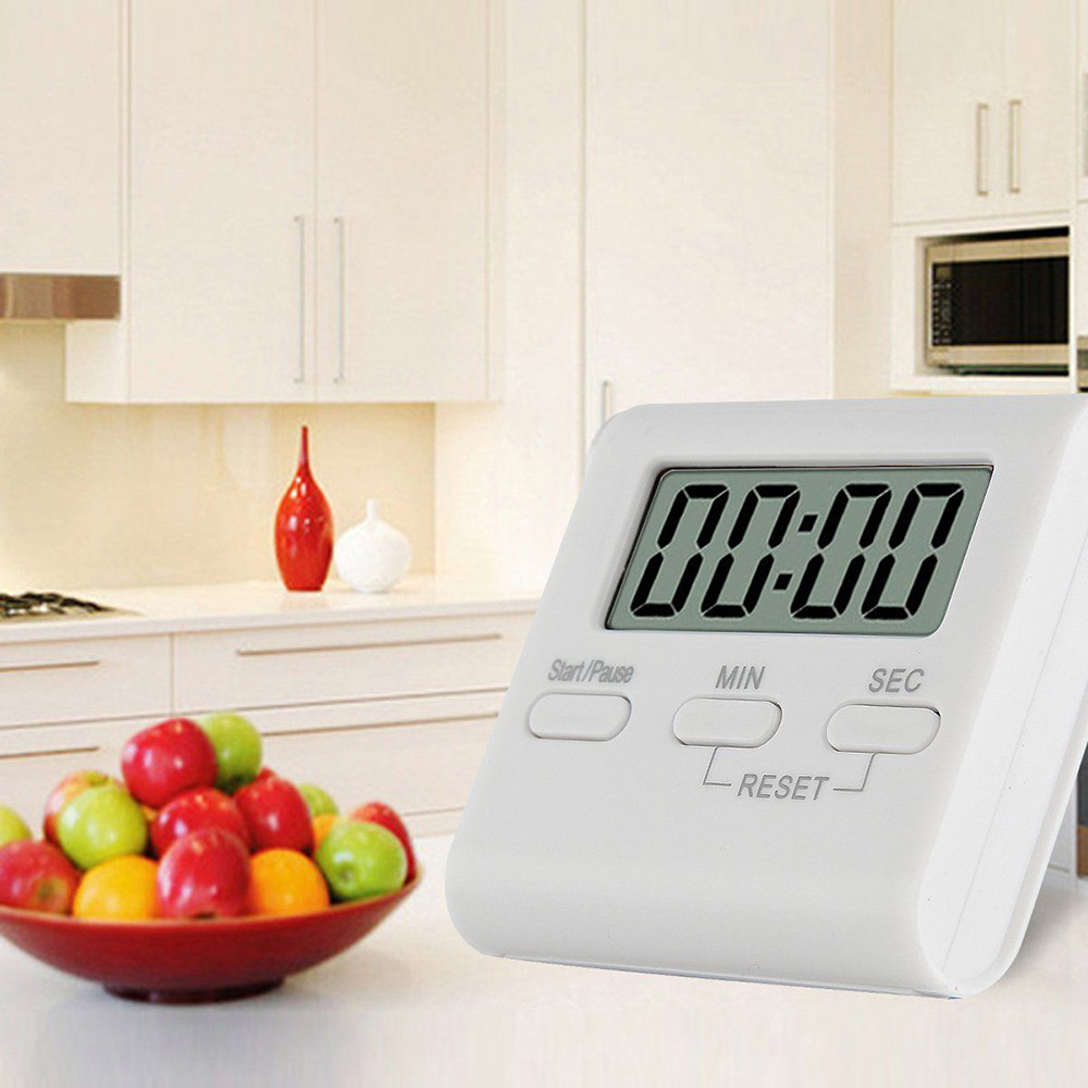 Voberry LCD Digital Large Kitchen Cooking Timer Count-Down Up Clock Loud Alarm Reminder