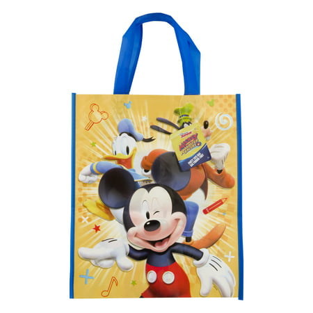Large Plastic Mickey Mouse Goodie Bag, 13 x 11 in, - Mickey Mouse Bday Decorations