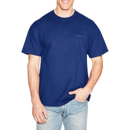 Hanes Men's Premium Beefy-T Cotton Short Sleeve T-Shirt with pocket, Available in Big and Tall