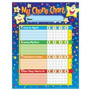 (6 Pk) Chore Charts Stars 25 Per Pk 8.5X11