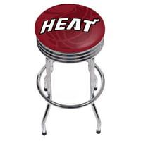 NBA Chrome Ribbed Bar Stool - Fade - Miami Heat
