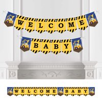 Construction Truck - Baby Shower Bunting Banner - Construction Party Decorations - Welcome Baby