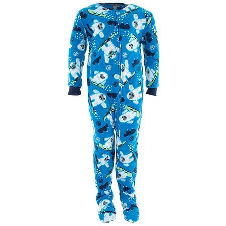 d007f064b2 Komar Kids - Komar Kids Big Boys  Blue Yeti Footed Pajamas M 8 - Walmart.com