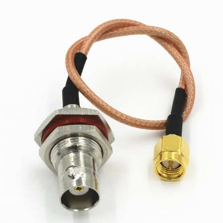 BNC Female jack to SMA Male Plug RG316 Pigtail RF Jumper Cable 20cm Quick USA Shipping ()