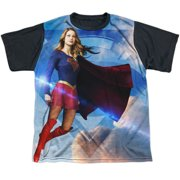 Supergirl Up In The Sky Big Boys Sublimation Shirt