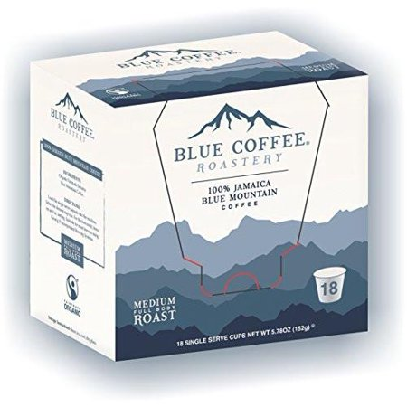 Blue Roastery Genuine Jamaica Blue Mountain Coffee K-Cups for Keurig 18 ct - Packaging May - Blue Coffee