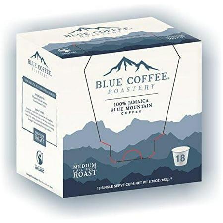 Blue Roastery Genuine Jamaica Blue Mountain Coffee K-Cups for Keurig 18 ct - Packaging May Vary ()