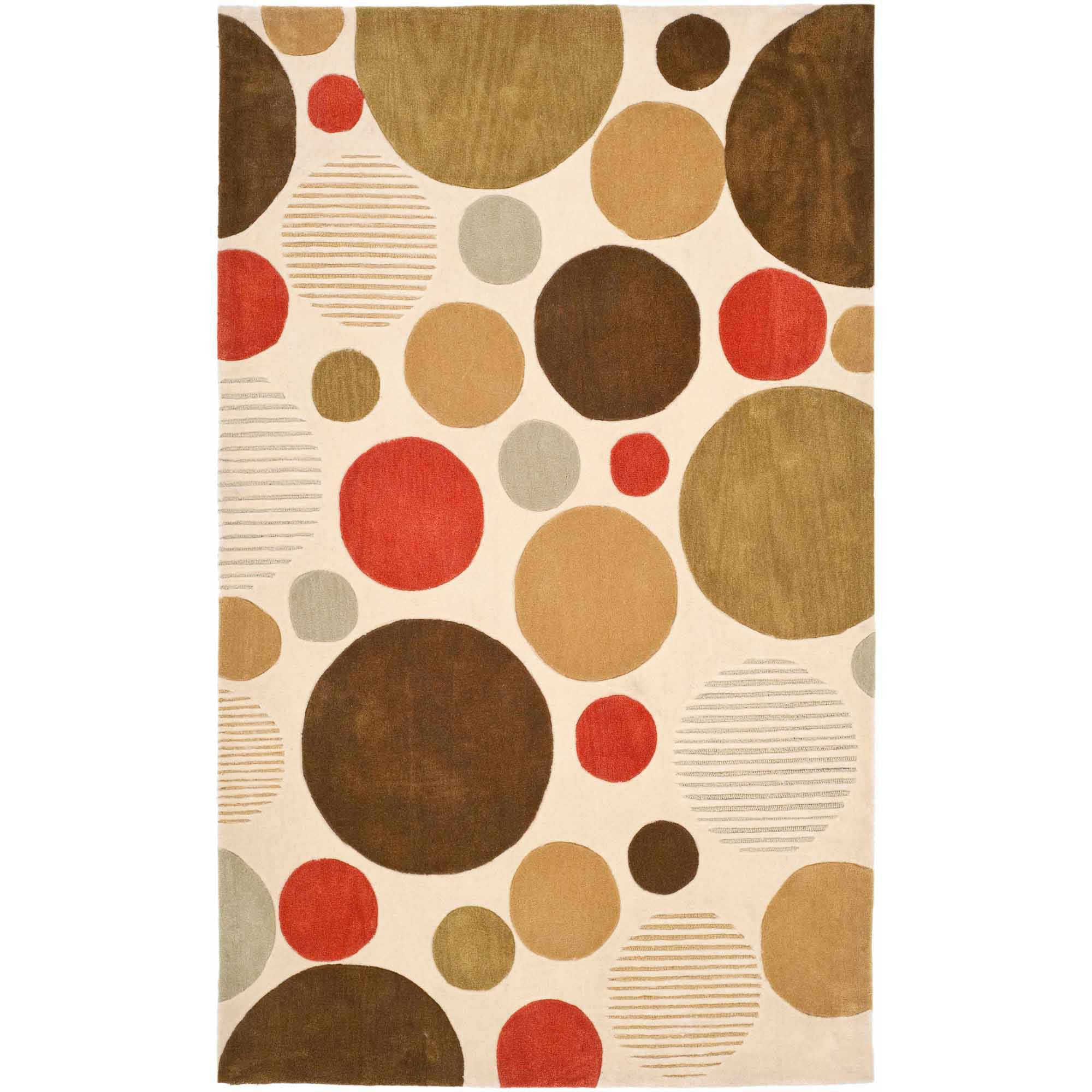 Safavieh Modern Art Sophie Hand Tufted Area Rug, Ivory/Multi-Colored