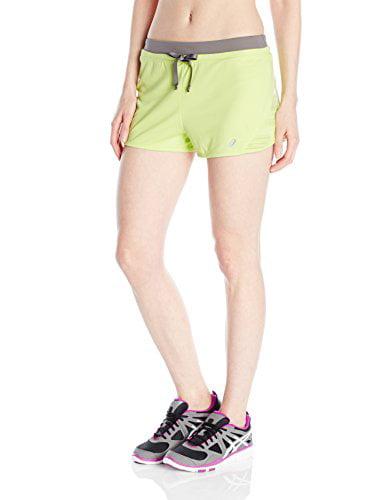 ASICS Women's Lite-Show Shorts, Pistachio, Medium