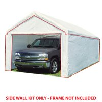 King Canopy 10 ft x 27 ft Carport Canopy Sidewall Kit w/ Flaps