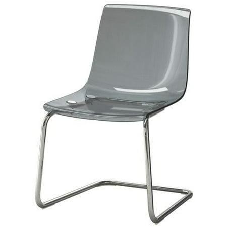 Ikea Chair, gray, chrome plated 3826.261711.62 Ikea Dining Room