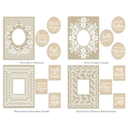 Anna Griffin Trellis Frames Mix & Match Cuttlebug Embossing Folders ...