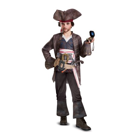 Captain Jack Sparrow Boys Costume Dead Men Tell No Tales - Small
