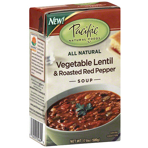 Pacific Natural Foods Vegetable Lentil & Roasted Red Pepper Soup, 17.6 oz (Pack of 12)