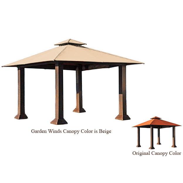 Garden Winds Replacement Canopy Top for Barcelona 12 x 12 Gazebo - RipLock 500