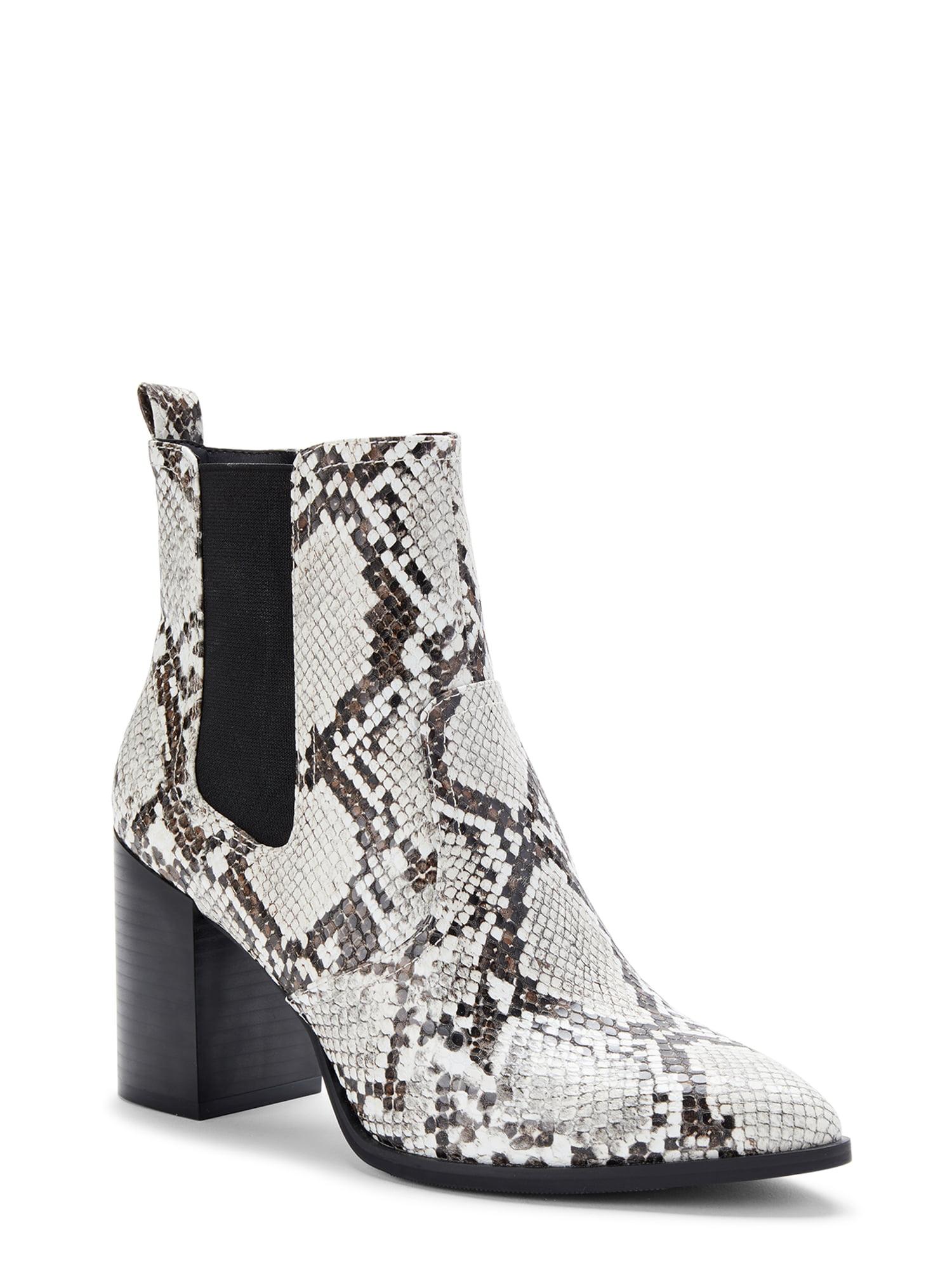 Scoop  Scoop Faux Snakeskin Chelsea Boots Women's