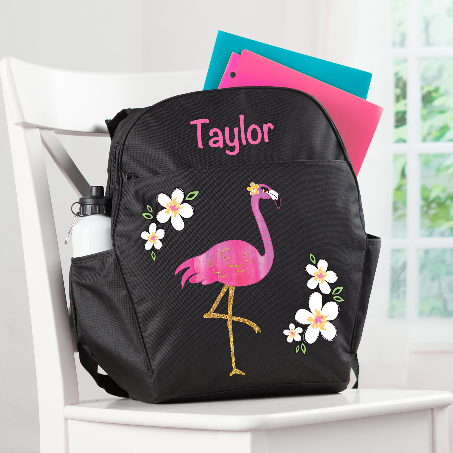 Pretty Flamingo Personalized Backpack