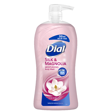 (2 pack) Dial Body Wash, Silk & Magnolia, 32 Ounce Cherry 32 Ounce Liquid