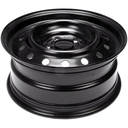 - Dorman Steel Wheel with Black Painted Finish (16x7
