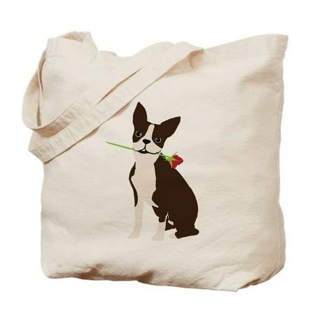 Canvas Large Boston Bag - CafePress - Boston Terrier - Natural Canvas Tote Bag, Cloth Shopping Bag