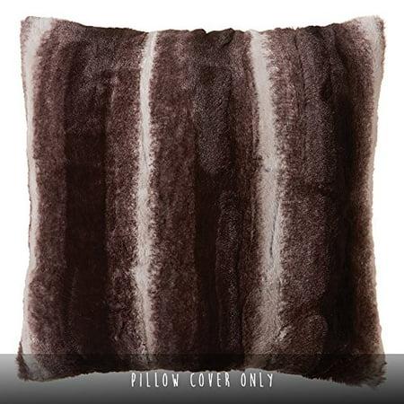 Faux Fur Throw Pillow 18