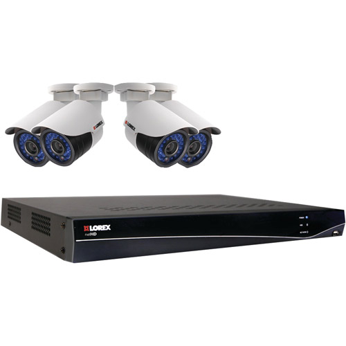 Lorex Lnr341c4b Stratus Cloud Hd 4-channel 1tb Nvr With 4 1080p Outdoor Ip Cameras